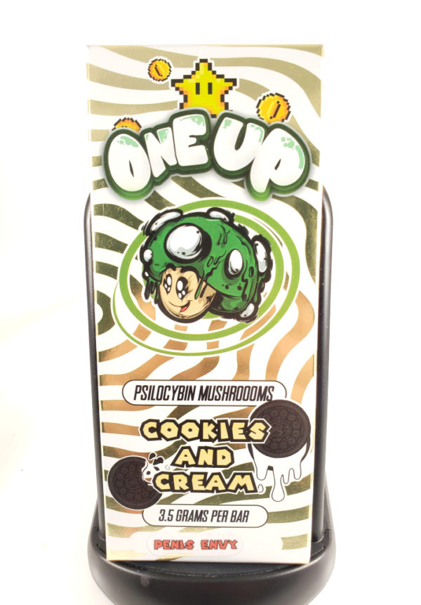 One Up Psilocybin Chocolate Bars 1up cookies n cream